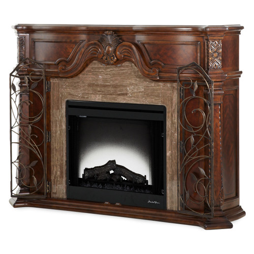 Windsor CourtFireplace Vintage Fruitwood - Michael Amini AICO Furniture - 70220-54