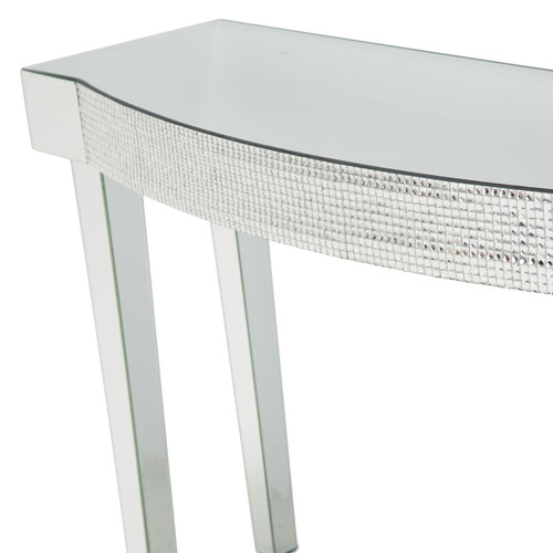MontrealMirrored Console Table w/HoneyComb Packing - Michael Amini AICO Furniture - FS-MNTRL-1436