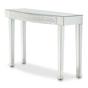 MontrealMirrored Console Table w/HoneyComb Packing - E2 -On Sale Michael Amini AICO