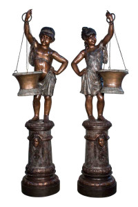 Boy Carrying Vase - Set of 2