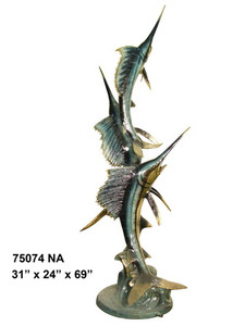 Three Sword Fish - Special Patina