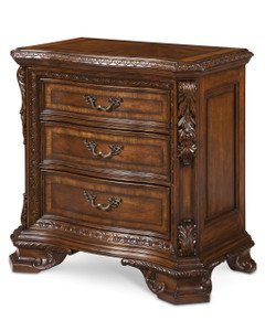 Old World- Wood Top Bedside Chest  - ART Furniture - 143148-2606