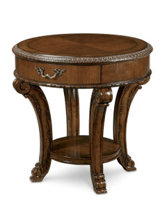 Old World- Round End Table  - ART Furniture - 143303-2606