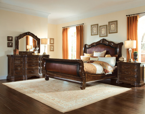 Valencia - 5/0 Uph. Sleigh Bed  - ART Furniture - 209145-2304