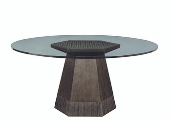 "Geode - Bluff Dining Table w/ 60"" Glass Top  - ART Furniture - 238224-230360"