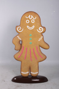 "67.75""H  Christmas Gingerbread Woman 5Ft Fiberglass Novelty Collectable Decor"