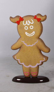 "42.5""H Christmas Gingerbread Girl 4Ft Fiberglass Novelty Collectable Decor"