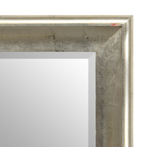 Silvery Woods Mirror 48X60 Silver withTarnished Silver Finish