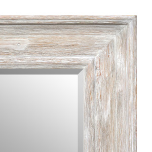 MIsty Woods Mirror 12x16 Distressed White Wash Finish