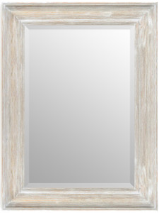 MIsty Woods Mirror 24x36 Distressed White Wash Finish