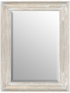 MIsty Woods Mirror 30x40 Distressed White Wash Finish