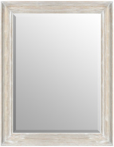 MIsty Woods Mirror 36x48 Distressed White Wash Finish