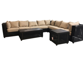 Monterey 8pc Ultimate Outdoor Sectional Set
