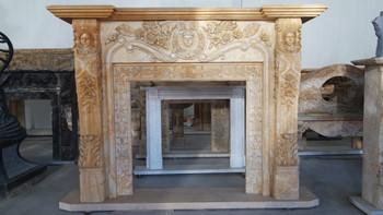 Fireplace Mantel 43x45 Beige Marble 17354