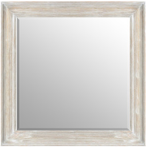MIsty Woods Mirror 30X30 Distressed White Wash