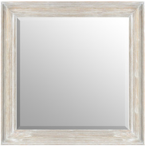MIsty Woods Mirror 36X36 Distressed White Wash