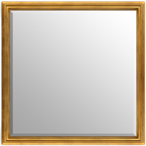 Simple Elegance Mirror Soft Gold 36x36
