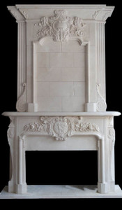 Two Tier Mantel in Italian Beige Marble 45X34  17914