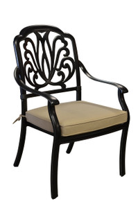 Elisabeth Aluminum Outdoor Dining Chair Plus