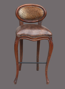 Safari Oval Bar Stool   Leopard