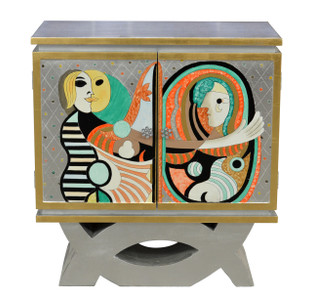 Picasso Style Silver Cabinet