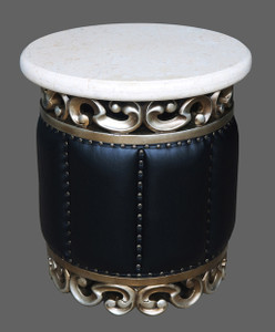 Platine Crema Marble Top Table