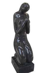 Abstract Sculpture Black and White Marble 17332