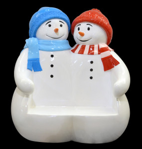 Snowman Bench Large Novelty Christmas Seating
