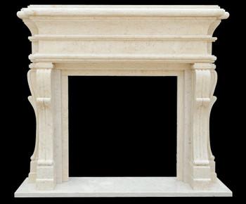 Fireplace Mantel  42X42  Beige Marble  17169
