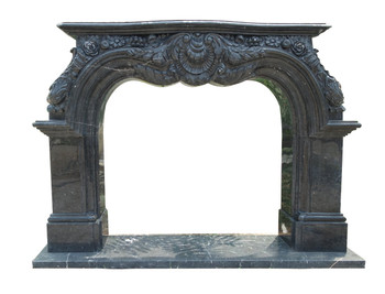 Fireplace Mantel  50X43  Black Marble  17171