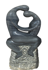 Abstract Sculpture Black and White Marble 17323