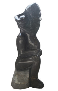 Abstract Sculpture Black and White Marble 17334