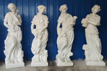Four Seasons on Base White Marble 18226
