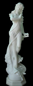 Woman with Flowing Scarf    White Marble     18260