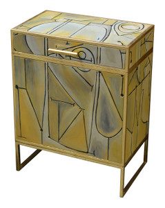 Cubistic Chest of Stand