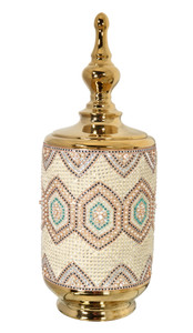 Moroccan Jar with Lid