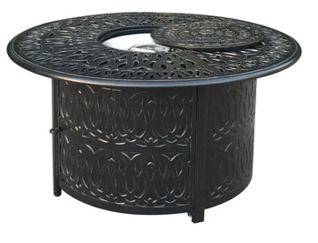 Elisabeth Round Gas Firepit Table
