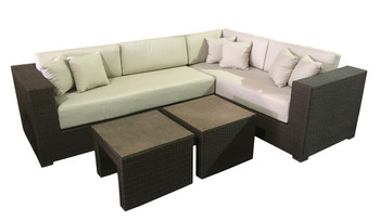 New Panorama Sectional With Tables