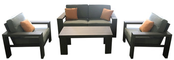 Titan 4pc Outdoor Deep Seating Set Patio Furniture