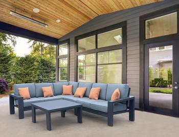 Titan 5pc Outdoor Sectional Set Patio Furniture