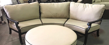 Astoria Curved Outdoor 3 Piece Sectional Sofa