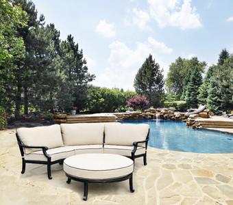 Astoria Curved Outdoor 3 Piece Sectional Sofa