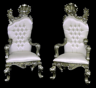 Platina Cartouche Chair Set of 2