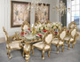 Platine Rococo Dining Table with Glass