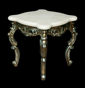 Platine Champagne Crema Marble Top Table
