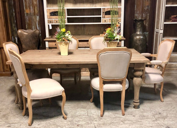 Farmhouse Dining Table Set of 7
