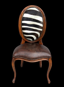 Safari Oval Dining Chair  Zebra