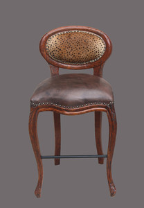 Safari Oval Counter Stool   Leopard
