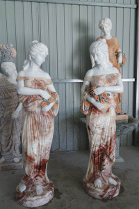 Pair Lovely Maiden Multi Multi Colored Marble