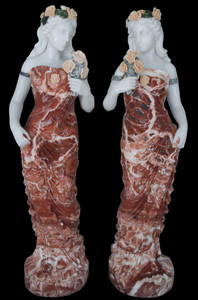 Pair Woman Multi Color Marble